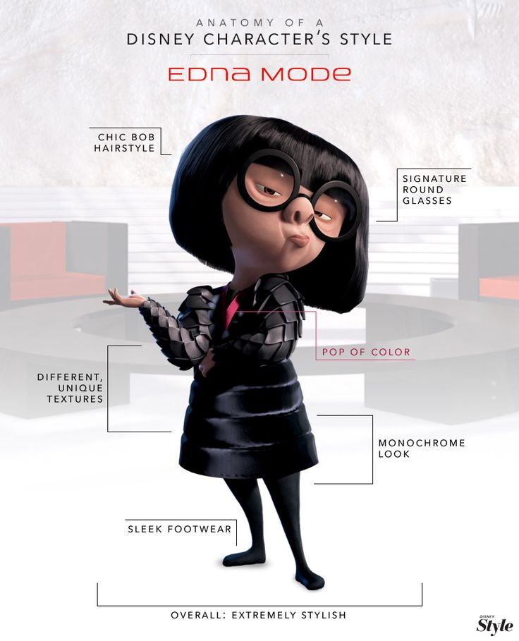 Edna Mode might be the designer to the biggest super heroes in the world, but that doesn't mean her own style doesn't make a statement.