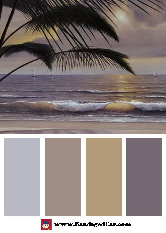 Wave Color Palette: Paradisio, Art Print by Diane Romanello