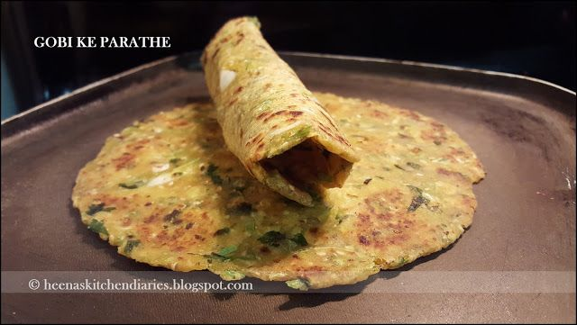 Heena's Kitchen Diaries: Gobi ke Parathe | Kobi na Thepla