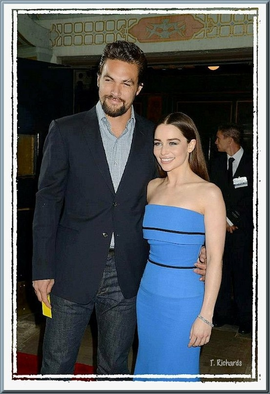Jason Momoa & Emilia Clarke ~ Khal Drogo & Khaleesi Daenerys Targaryen the size difference!