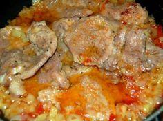 Lecsós sertéstarja recept: Tavaszi vagy nyári húsétel, egyszerű, könnyen elkészíthető, nem igényel nagy konyhai gyakorlatot. Mindenki szereti. http://aprosef.hu/lecsos_sertestarja_recept