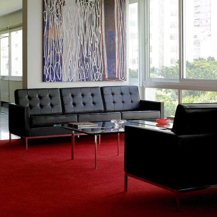 """Das elegante 3-Sitzer Sofa """"Florence"""" von Knoll ist der Designklassiker schlechthin!"""