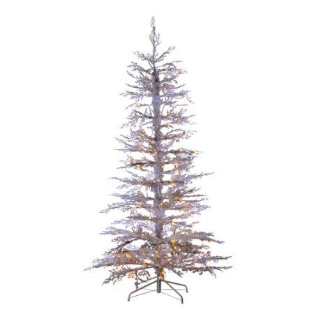 Sterling Holidays 5851--65c 6.5'h Lighted Flocked White Twig Tree - Walmart.com