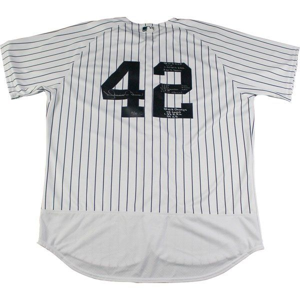Mariano Rivera Signed and Multi-Inscribed 'World Series Stats' Edition New York Yankees Authentic Jersey (L/E 20)