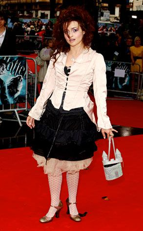 Helena Bonham Carter. WARNING: I'm pinning this because I freaking love her outfit in this picture, (I love everything she wears, honestly), and can't find a picture of it elsewhere. I affirmatively do NOT endorse the opinions presented in the accompanying article. E! can stuff it.