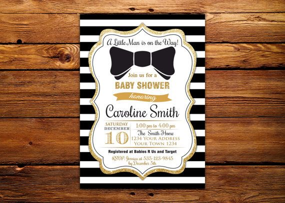 17 best ideas about bowtie baby showers on pinterest   bowtie, Baby shower invitations