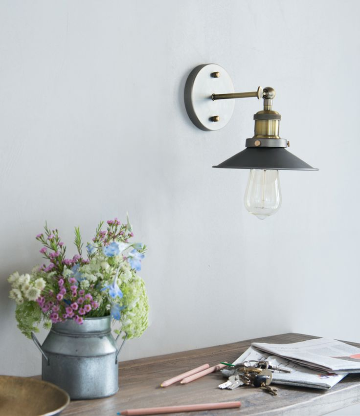 This Modern Wall Light Is Called Toby. The Industrial Inspired Design Is  Handmade With
