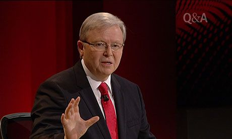 The Guardian - Election 2013: Kevin Rudd passionately defends gay marriage on Q