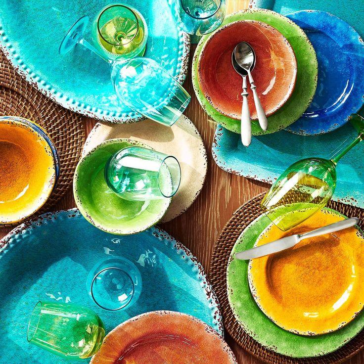 Carmelo Melamine Dinnerware - Sunshine Yellow | Pier 1 Imports