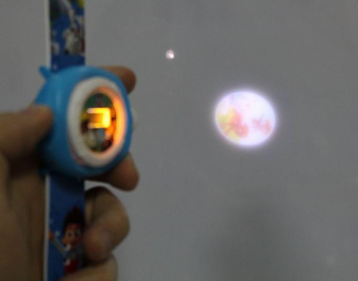 Gelang elektronik Mainan patrulla canina mainan Puppy Anjing Anak Paw Patroli Patroli Anjing Memiliki proyeksi jam Tangan Plastik mainan