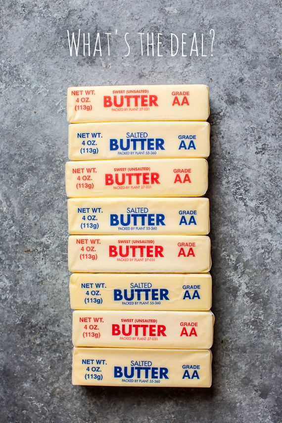 Salted Butter vs Unsalted Butter in Baking.