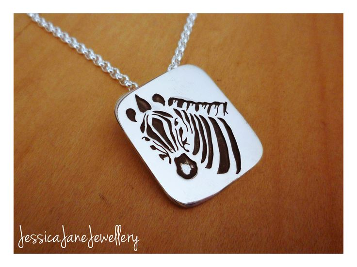 Zebra Pendant - Silver