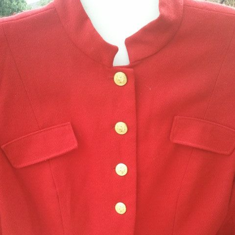 Vintage Hipster 80s Military Style Ladies Jacket with gold buttons fits a size 12 to 14  free domestic shipping Nancy Reagan by mamasunbear2 on Etsy