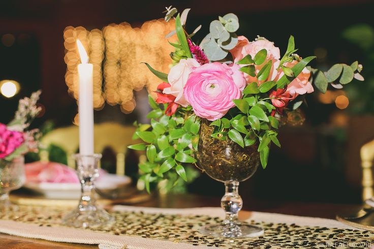 pink and gold + wedding