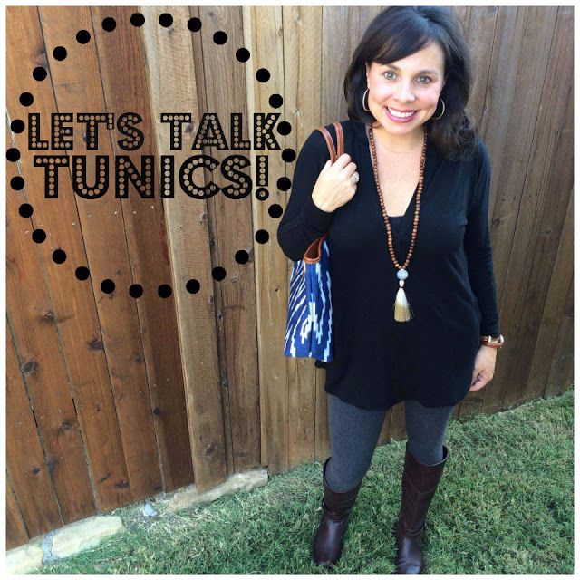 Let's Talk TUNICS!  This post contains THE BEST LEGGINGS EVER, a great camisole to wear under tunics, and TONS AND TONS of tunics to pair with your leggings!