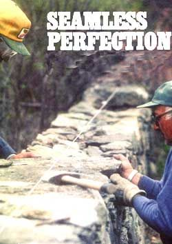 "Learn how to build a dry stone wall including choosing stones, equipment, layout, ends and corners. Originally published as ""Seamless Perfection"" in the October/November 1991 issue of MOTHER EARTH NEWS.data-pin-do="