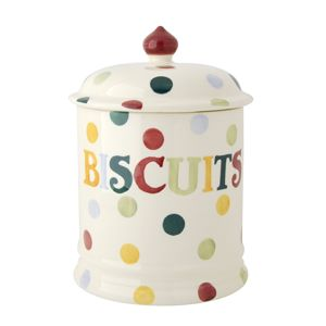 Polka Dot Text Biscuits 2 Pint Storage Jar