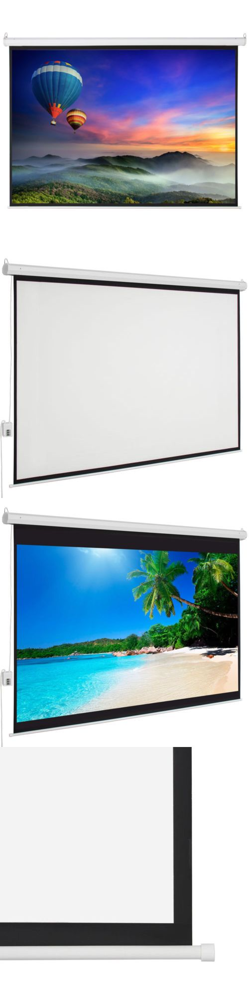 Projection Screens and Material: New Big Sale 100 4:3 Foldable Electric Motorized Projector Screen +Remote -> BUY IT NOW ONLY: $59.99 on eBay!