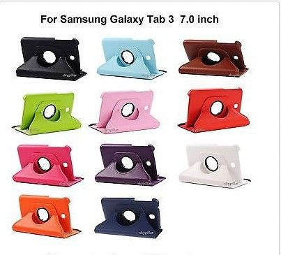 """For Samsung Galaxy Tab 3 7.0 Rotating 360 Case Cover w/ Stand 7"""" $7.98"""