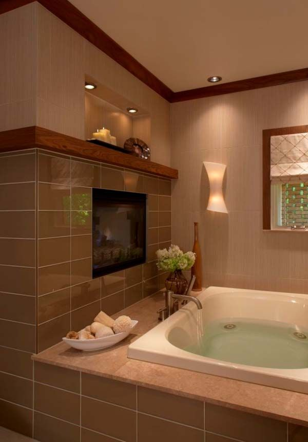 43 best Bathroom Fireplaces images on Pinterest | Bathroom ...