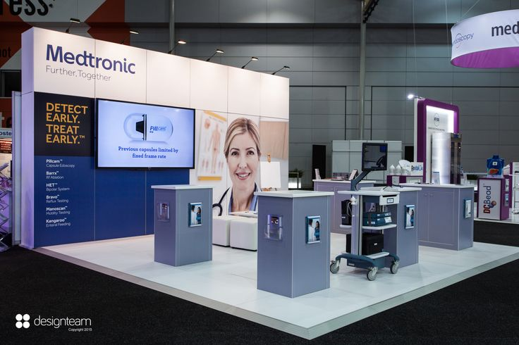 MEDTRONIC stands are developed for various medical conferences