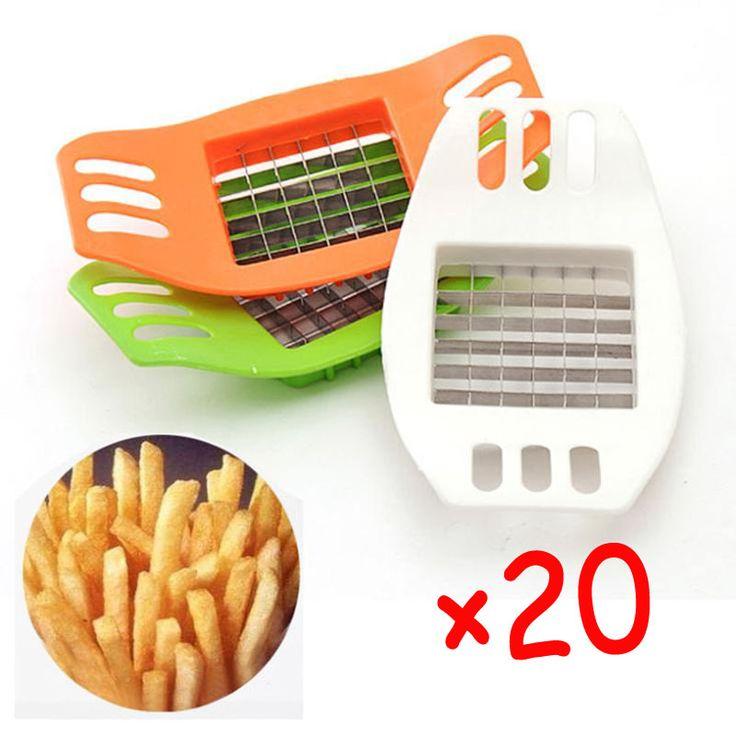 Large Apple Cut Fruit White Plastic Metal French Fry Potato Chips Cutter Vegetable Slicer Chopper Chipper Blade 31031