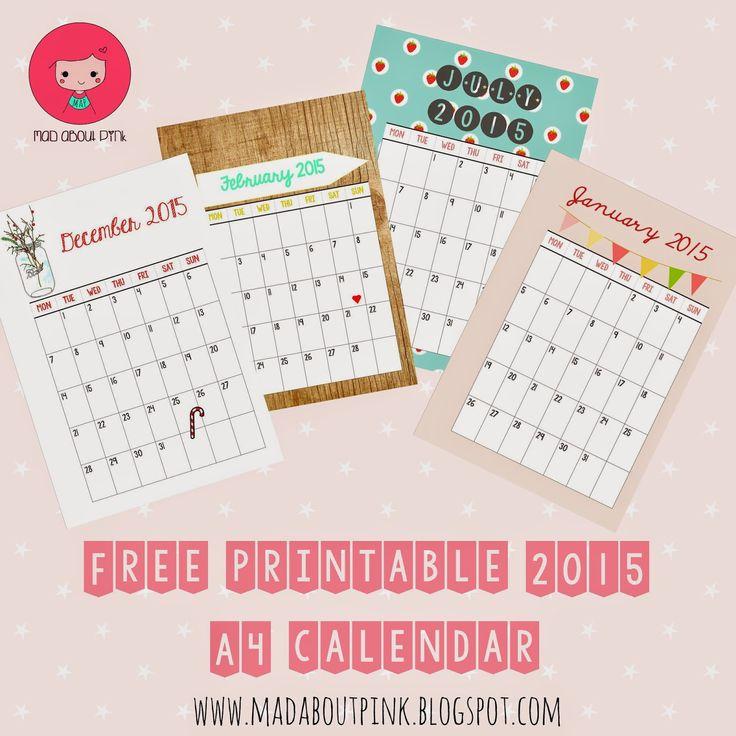 2015 Free Printable Calendars   Crafting in the Rain