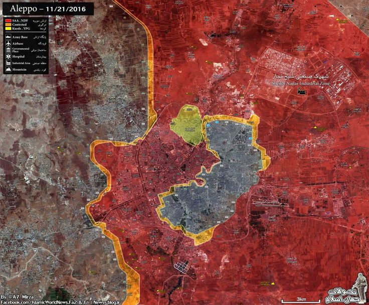 ‎NEW MAP ‎⁦‪#Aleppo‬⁩ Military Situation Map ‎HD version : ⁦‪mediafire.com/convkey/372f/1…‬⁩  ‎⁦‪#Syria‬⁩ ⁧‫#سوريا‬⁩ ⁧‫#سوریه‬⁩ ⁧‫#حلب‬⁩