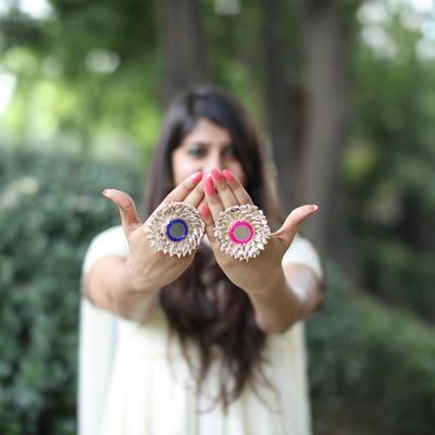 Indian Wedding Gifts - These Gota Jewellery Rings are a Perfect Giveaway for your Bridesmaids | WedMeGood  #wedmegood #giveaway #gotta #rings #indianbride #indianwedding