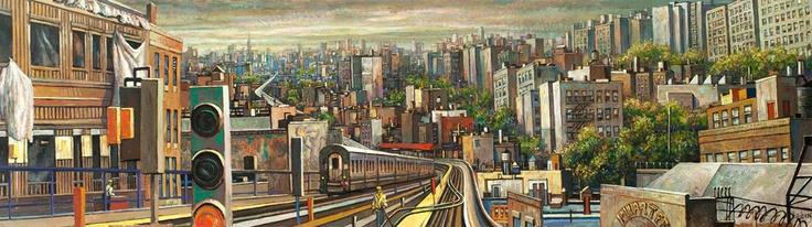 "Daniel Hauben, ""Burnside Station"" - for new library at Bronx Community College"