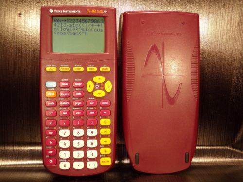 Calculatrice-calculator-scientifique-scientific-TEXAS-INSTRUMENTS-TI-82-STATS-FR