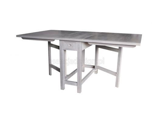 Składany stół szwedzki. Stoły drewniane na zamówienie http://esencjadesign.pl/stoly-i-stoliki/915-szwedzki-skladany-stol-szary.html