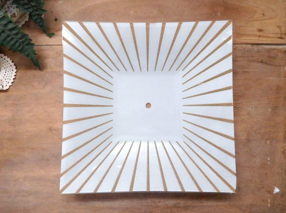 Mid Century Ceiling Light Cover by LittleDixieVintage on Etsy