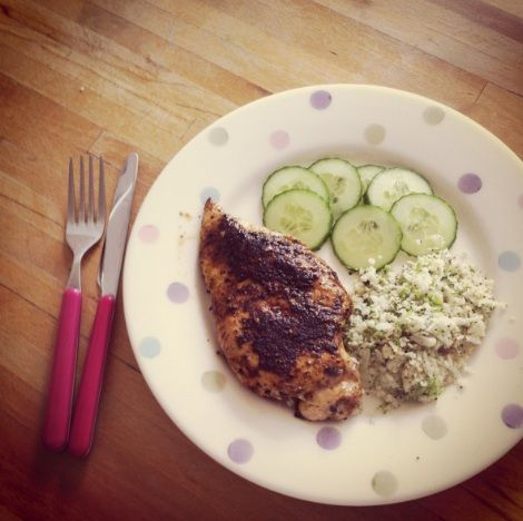 Piri Piri Chicken With Homemade Couscous – 200 Calories (Serves 1)