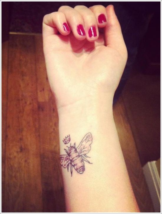 Queen Bee Tattoos | 28 Cute Queen Bee Tattoo Designs for Women and Men