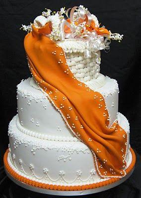 tall wedding cake with lillys - Google Search