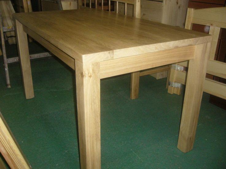 stůl dub detail na nohy do kraje