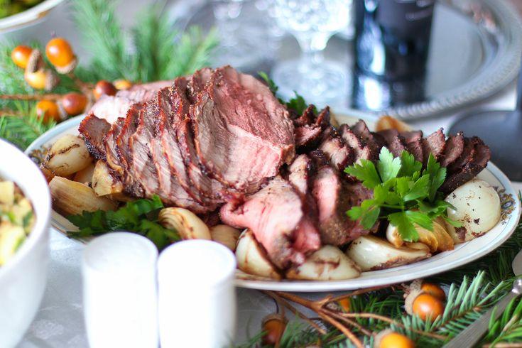 Marinated Beef Round Tip Roast