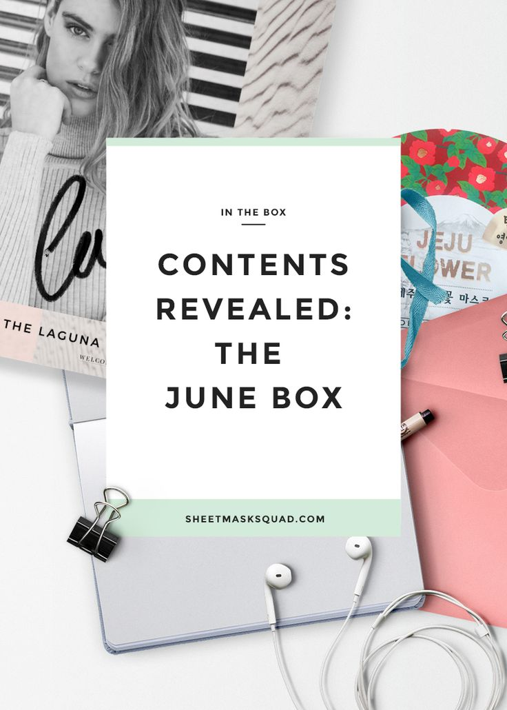 Contents Revealed: The June Box – Sheet Mask Squad