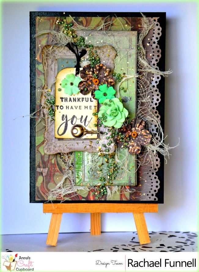 Rachael Funnell has some stunning cards to share with you, featuring 7gypsies Architextures collection. This is a fantastic collection with a strong vintage feel and LOADS of texture!! Here we have her card 'Thankful'  You can find Rachael's cards over on Anna's blog...  The complete 7Gypsies Architextures collection can be found in the Anna's store https://www.annascraftcupboard.com.au/store/7-gypsies-c-4677/