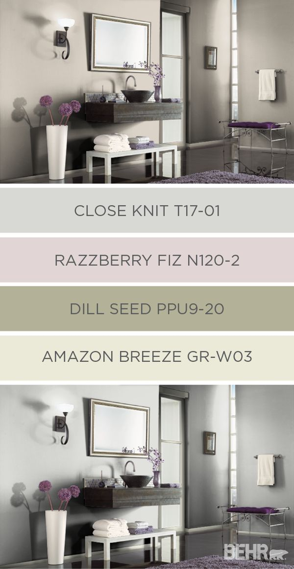 BEHR Paint offers a wide range of colors for every room in your home. Check out this collection of coordinating color palettes that you can use when in your home makeover process. This soft neutral palette uses pastel colors and a light gray background to make your home feel open and welcoming.