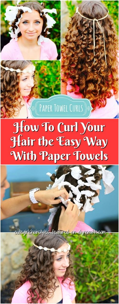 How To Curl Your Hair the Easy Way With Paper Towels {Video}