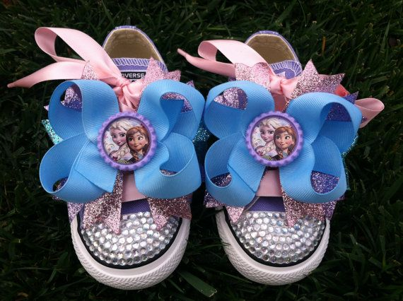 FROZEN SHOES by SparkleToes3, $69.99 on Etsy. These would be for Lily.