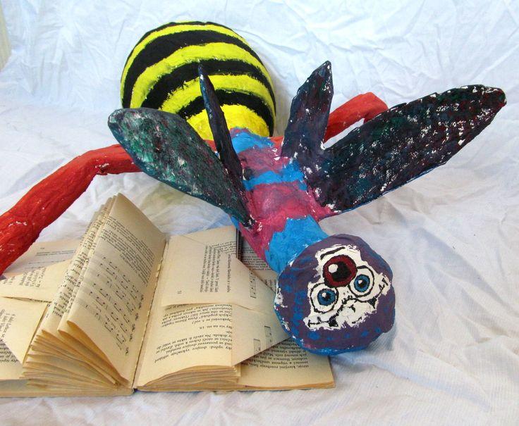 Knihomolové - kašírování paper mache
