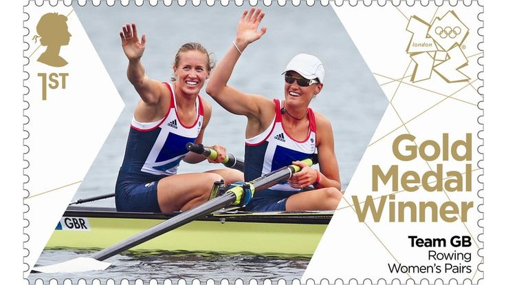 Helen Glover and Heather Stanning honoured on postage stamp