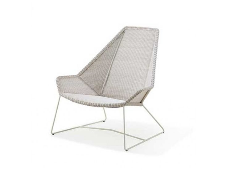 Breeze Lounge Highback in White Grey - Caneline Chairs