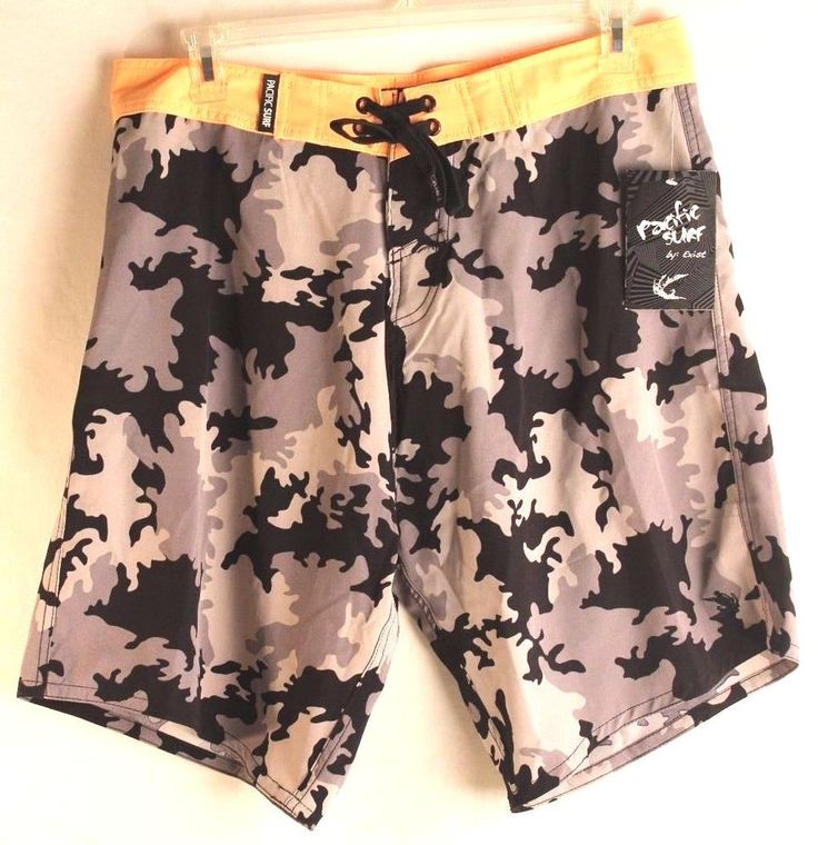 Surf Shorts Mens Beach Camouflage New Board Size XL  #PacificSurf #BoardShorts
