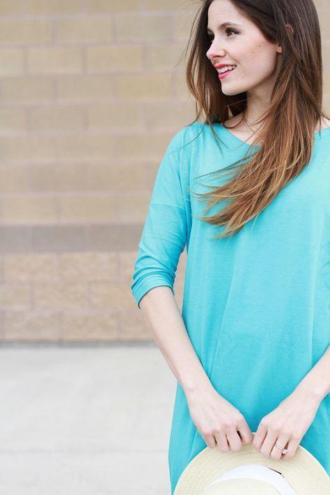DIY oversized tee shirt dress. Could even just make a nice shirt