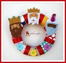 www.pikapic.es Corona de Reyes Magos para la puerta de casa
