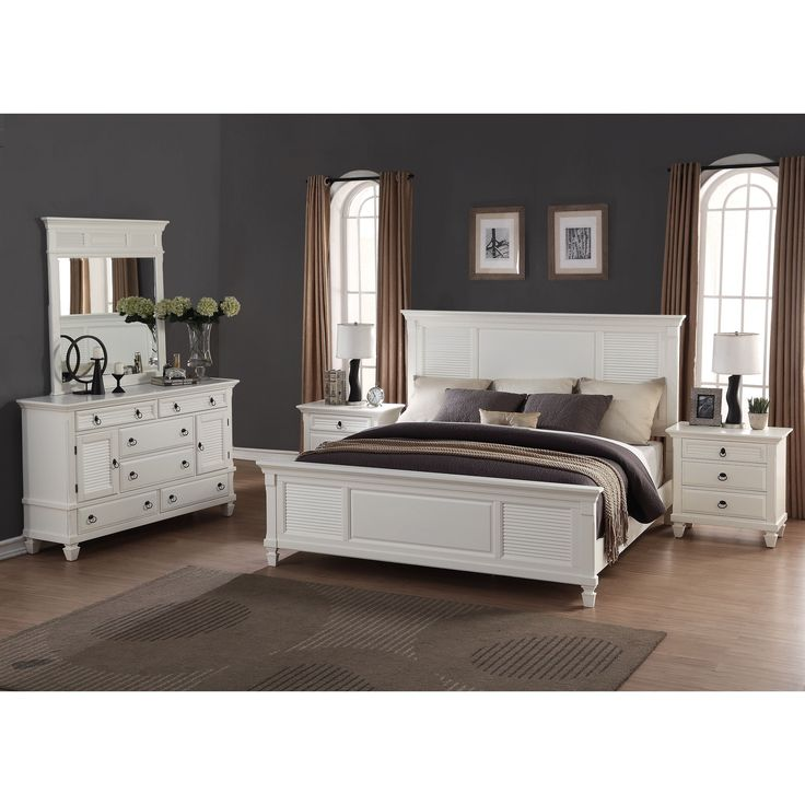 marble top bedroom furniture%0A Regitina White  Piece Queensize Bedroom Furniture Set  Queen